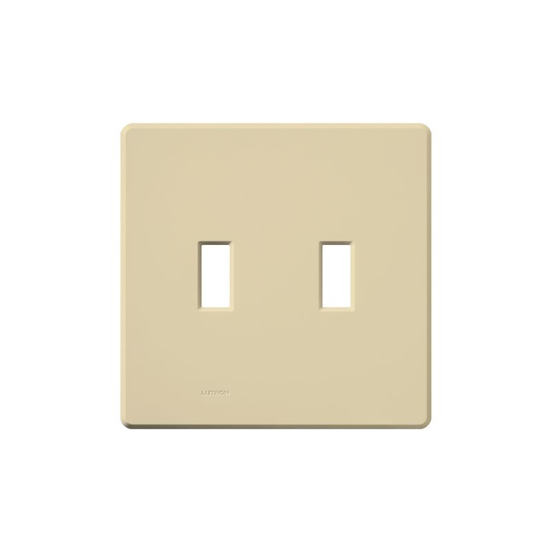 Lutron FG-2 Fassada Two-Gang wall plate Ivory Wall Controls Switch