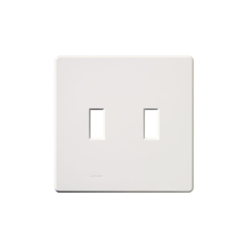Lutron FG-2 Fassada Two-Gang wall plate White Wall Controls Switch