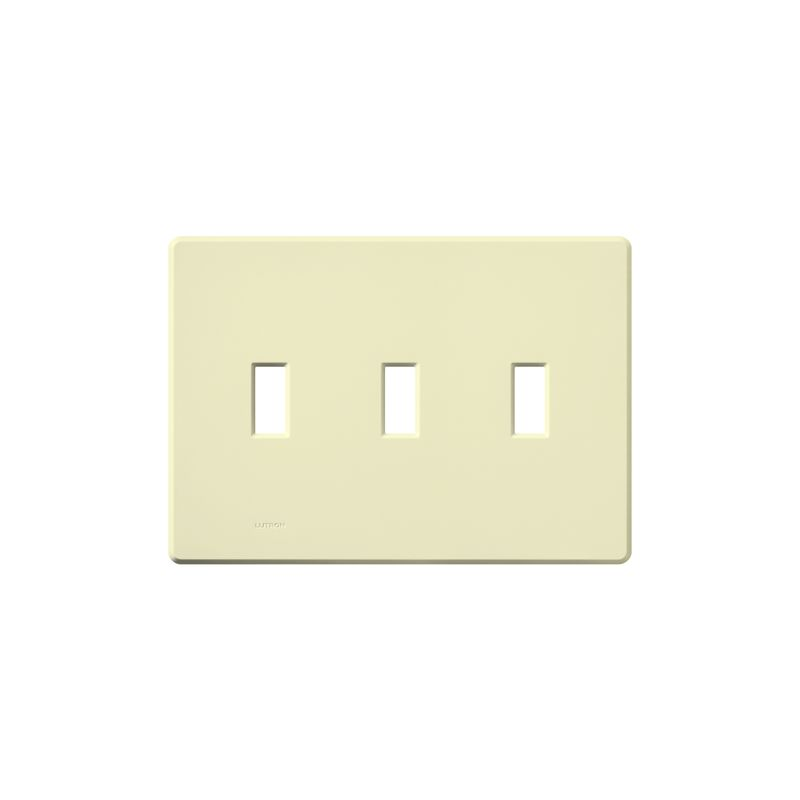 Lutron FG-3 Fassada Three-Gang wall plate Almond Wall Controls Switch