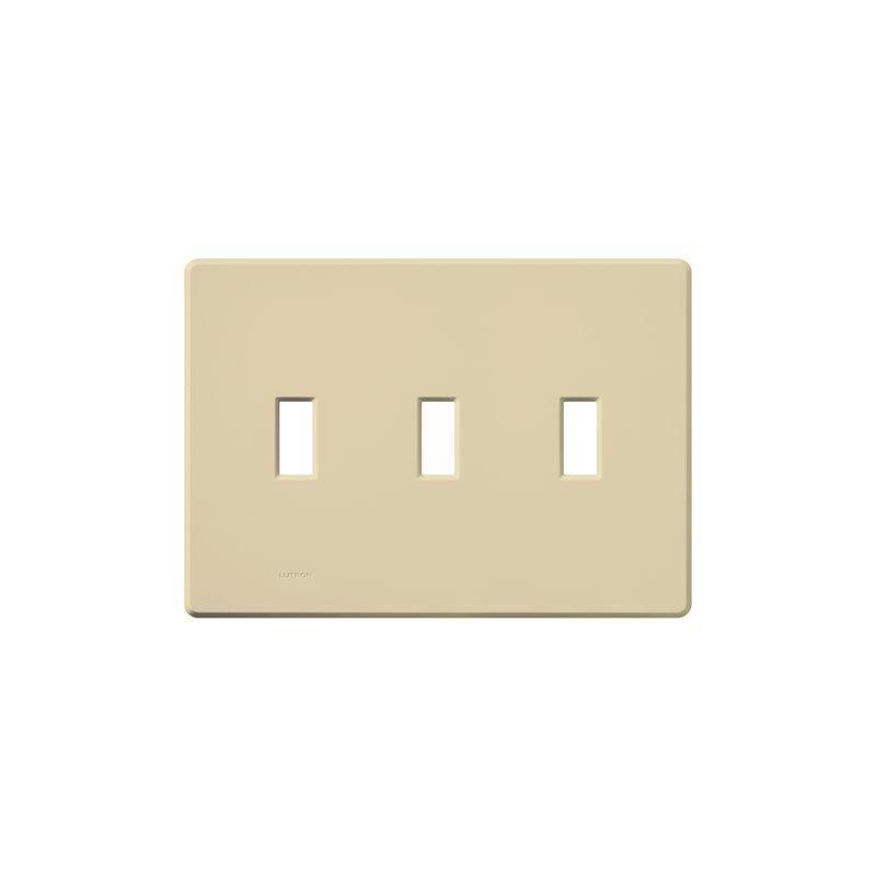 Lutron FG-3 Fassada Three-Gang wall plate Ivory Wall Controls Switch