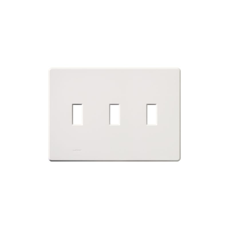 Lutron FG-3 Fassada Three-Gang wall plate White Wall Controls Switch
