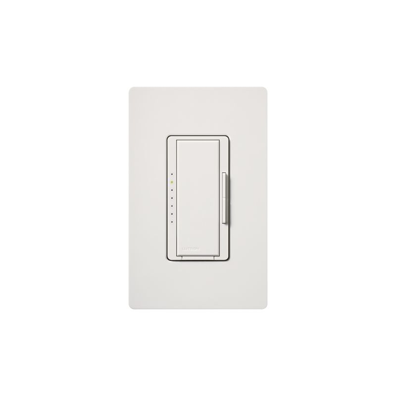 Lutron MAW-600H 120 Volt 600 Watt Single Pole Incandescent / Halogen Sale $32.78 ITEM: bci342543 ID#:MAW-600H-WH UPC: 27557503884 120 Volt 600 Watt Single Pole Incandescent / Halogen Digital Fade Dimmer with Clamshell Packaging and Included Faceplate from the Maestro Collection At the touch of a button, dimmer can go immediately to a favorite preset light level, fade-to-off, or adjust manually. Clamshell packed 120 Volt, 600 watt, incandescent or halogen model with faceplate included. The Maestro dimmer provides an easy-to-operate tap switch that turns lights on/off to your favorite light level. Use the rocker dimmer to adjust lights manually. The delayed fade-to-off feature gives you 10-60 seconds to leave the room. Combine with Maestro companion dimmers to control a single light from up to 10 locations. Features: Maestro offers a full range of designer light controls, fan controls, and timers that allow you to adjust your lights and fans from anywhere in the room and even outside your home. High-performance personalized light control with additional advanced programming options. Dimmers offer customizable delayed fade-to-off, which lets you leave a room before the lights go out. LEDs glow softly in the dark for easy dimmer location and show preset light level when lights are off. Multi-location dimming compatible with 3-way wiring for easy installation and retrofit. Add companion dimmers to dim from up to 10 locations. Power failure memory (Maestro remembers your settings even after a power interruption). Superior suppression of interference with radio and TV. Model available with eco-dim® feature (dimmer guarantees you at least 15% energy savings compared to a standard switch). Matching Claro® gloss or Satin Colors® wall plates available for 1-gang up to 6-gang sizes. Underwriters Laboratories and Canadian Standards Association listed. Lutron controls are rated at 120 VAC, 60 Hz unless otherwise noted. Faceplate Included. Specifications: Voltage: 120 Wattage: 600 Type: Single Pole :