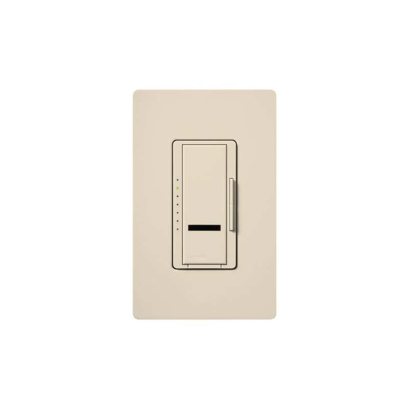 Lutron MIRLV-1000 Maestro IR 120 Volt 800 Watt Single Pole Magnetic Sale $102.06 ITEM: bci1852564 ID#:MIRLV-1000-LA UPC: 27557163019 Lutron MIRLV-1000 Maestro IR 120 Volt 800 Watt Single Pole Magnetic Low Voltage Digital Fade Dimmer Control your low-voltage lighting situation with the touch of a button remotely with this 120 volt 1000VA (800 watt) single-location digital fade dimmer with infrared receiver. Easily control this light from within a 30 foot line of sight with compatible IR remote (MIR-ITFS) (sold separately). The Maestro IR dimmer and remote provides convenient infrared remote control of lighting. The dimmer is part of the Maestro family of light controls, fan controls, and timers. Maestro IR comes in a full range of colors, so dimmers complement any décor. Lutron MIRLV-1000 Features: Works with most learning remotes including the Lutron (MIR-ITFS) (sold separately) LEDs glow softly in the dark so you can easily find the dimmer Delayed fade to off lets you leave the room before the lights go out Use companion dimmers to dim from up to 10 locations Select your favorite light level for any activity with a touch of the silver button on the remote Tap once for favorite level; tap twice for full on Touch rocker to adjust light level Controls up to 1000W Available in 27 colors Coordinating Claro wall plates available separately Matching switches, fan controls, and accessories available Maestro IR Remote not include Requires a neutral wire Some fixture manufacturers do not recommend dimming their solid state transformers Please check with the manufacturer Use only to control one of the following scenarios: (1) the primary side of electronic transformer-supplied low voltage lighting; (2) incandescent lamps; or (3) a combination of the two In multi-phase applications, use a separate neutral with each phase containing a dimmed circuit Do not connect to receptacles, fluorescent fixtures, motor-operated appliances or transformer-supplied appliances Lutron MIRLV-1000 Specifications: Single-Pole Voltage: 120 Wattage: 600 The story of Lutron began in a makeshift lab in a New York City home in 1959 where Joel Spira emerged with a radical new innovation in home lighting: the solid-state rotary dimmer. In almost 50 years of innovation, Lutron has invented hundreds of lighting control devices and systems, and expanded their product offering from 2 products to 15,000. Lutron dimmers not only set the perfect mood in a home, they also reduce energy consumption and extend lamp life. Taken as a whole, Lutron light controls have reduced electrical use by 9.2 billion kWh, reducing their customers' electric bills by $1 billion annually. The company has advanced the technology of lighting control while focusing on exceptional quality and design. Since the beginning, the company has maintained exceptional service, offering 24-hour technical support for its products, and a friendly customer service department. :