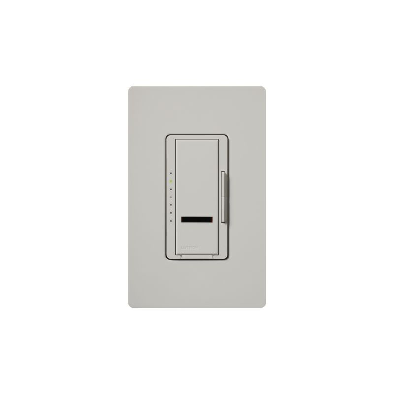 Lutron MIRLV-1000 Maestro IR 120 Volt 800 Watt Single Pole Magnetic Sale $106.53 ITEM: bci1852569 ID#:MIRLV-1000-PD UPC: 27557265973 Lutron MIRLV-1000 Maestro IR 120 Volt 800 Watt Single Pole Magnetic Low Voltage Digital Fade Dimmer Control your low-voltage lighting situation with the touch of a button remotely with this 120 volt 1000VA (800 watt) single-location digital fade dimmer with infrared receiver. Easily control this light from within a 30 foot line of sight with compatible IR remote (MIR-ITFS) (sold separately). The Maestro IR dimmer and remote provides convenient infrared remote control of lighting. The dimmer is part of the Maestro family of light controls, fan controls, and timers. Maestro IR comes in a full range of colors, so dimmers complement any décor. Lutron MIRLV-1000 Features: Works with most learning remotes including the Lutron (MIR-ITFS) (sold separately) LEDs glow softly in the dark so you can easily find the dimmer Delayed fade to off lets you leave the room before the lights go out Use companion dimmers to dim from up to 10 locations Select your favorite light level for any activity with a touch of the silver button on the remote Tap once for favorite level; tap twice for full on Touch rocker to adjust light level Controls up to 1000W Available in 27 colors Coordinating Claro wall plates available separately Matching switches, fan controls, and accessories available Maestro IR Remote not include Requires a neutral wire Some fixture manufacturers do not recommend dimming their solid state transformers Please check with the manufacturer Use only to control one of the following scenarios: (1) the primary side of electronic transformer-supplied low voltage lighting; (2) incandescent lamps; or (3) a combination of the two In multi-phase applications, use a separate neutral with each phase containing a dimmed circuit Do not connect to receptacles, fluorescent fixtures, motor-operated appliances or transformer-supplied appliances Lutron MIRLV-1000 Specifications: Single-Pole Voltage: 120 Wattage: 600 The story of Lutron began in a makeshift lab in a New York City home in 1959 where Joel Spira emerged with a radical new innovation in home lighting: the solid-state rotary dimmer. In almost 50 years of innovation, Lutron has invented hundreds of lighting control devices and systems, and expanded their product offering from 2 products to 15,000. Lutron dimmers not only set the perfect mood in a home, they also reduce energy consumption and extend lamp life. Taken as a whole, Lutron light controls have reduced electrical use by 9.2 billion kWh, reducing their customers' electric bills by $1 billion annually. The company has advanced the technology of lighting control while focusing on exceptional quality and design. Since the beginning, the company has maintained exceptional service, offering 24-hour technical support for its products, and a friendly customer service department. :