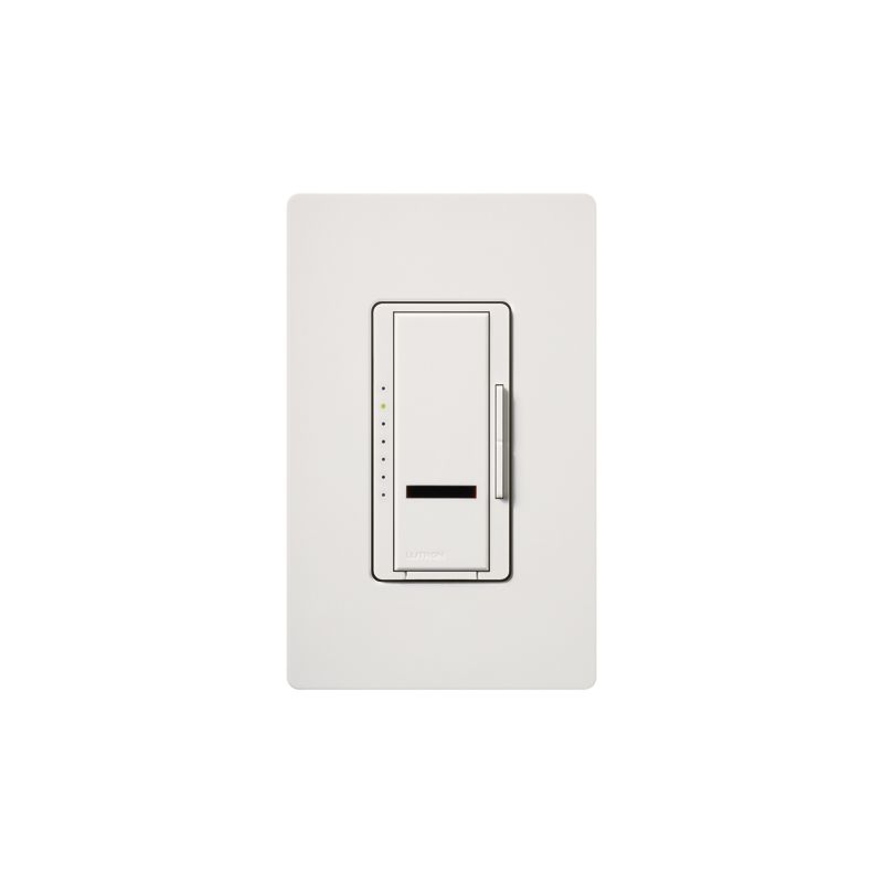 Lutron MIRLV-1000 Maestro IR 120 Volt 800 Watt Single Pole Magnetic Sale $106.53 ITEM: bci1852574 ID#:MIRLV-1000-SW UPC: 27557211154 Lutron MIRLV-1000 Maestro IR 120 Volt 800 Watt Single Pole Magnetic Low Voltage Digital Fade Dimmer Control your low-voltage lighting situation with the touch of a button remotely with this 120 volt 1000VA (800 watt) single-location digital fade dimmer with infrared receiver. Easily control this light from within a 30 foot line of sight with compatible IR remote (MIR-ITFS) (sold separately). The Maestro IR dimmer and remote provides convenient infrared remote control of lighting. The dimmer is part of the Maestro family of light controls, fan controls, and timers. Maestro IR comes in a full range of colors, so dimmers complement any décor. Lutron MIRLV-1000 Features: Works with most learning remotes including the Lutron (MIR-ITFS) (sold separately) LEDs glow softly in the dark so you can easily find the dimmer Delayed fade to off lets you leave the room before the lights go out Use companion dimmers to dim from up to 10 locations Select your favorite light level for any activity with a touch of the silver button on the remote Tap once for favorite level; tap twice for full on Touch rocker to adjust light level Controls up to 1000W Available in 27 colors Coordinating Claro wall plates available separately Matching switches, fan controls, and accessories available Maestro IR Remote not include Requires a neutral wire Some fixture manufacturers do not recommend dimming their solid state transformers Please check with the manufacturer Use only to control one of the following scenarios: (1) the primary side of electronic transformer-supplied low voltage lighting; (2) incandescent lamps; or (3) a combination of the two In multi-phase applications, use a separate neutral with each phase containing a dimmed circuit Do not connect to receptacles, fluorescent fixtures, motor-operated appliances or transformer-supplied appliances Lutron MIRLV-1000 Specifications: Single-Pole Voltage: 120 Wattage: 600 The story of Lutron began in a makeshift lab in a New York City home in 1959 where Joel Spira emerged with a radical new innovation in home lighting: the solid-state rotary dimmer. In almost 50 years of innovation, Lutron has invented hundreds of lighting control devices and systems, and expanded their product offering from 2 products to 15,000. Lutron dimmers not only set the perfect mood in a home, they also reduce energy consumption and extend lamp life. Taken as a whole, Lutron light controls have reduced electrical use by 9.2 billion kWh, reducing their customers' electric bills by $1 billion annually. The company has advanced the technology of lighting control while focusing on exceptional quality and design. Since the beginning, the company has maintained exceptional service, offering 24-hour technical support for its products, and a friendly customer service department. :