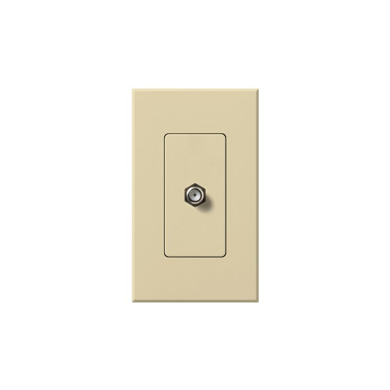 Lutron NT-CJ Nova T Coaxial Cable Jack wall plate Insert with Single