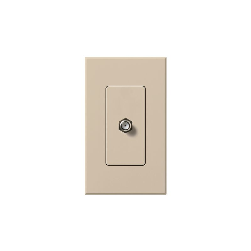 Lutron NT-CJ Nova T Coaxial Cable Jack wall plate Insert with Single Sale $22.20 ITEM: bci1853723 ID#:NT-CJ-TP UPC: 27557688994 :