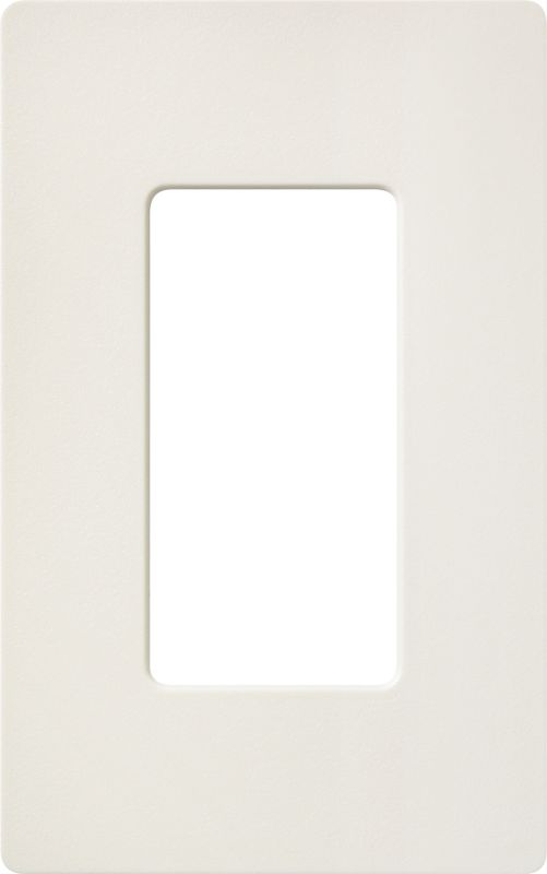 Lutron CW-1 Claro Single Gang Designer Wall Plate Biscuit Wall