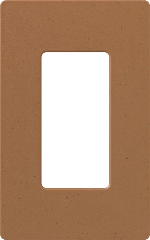 Lutron CW-1 Claro Single Gang Designer Wall Plate Terracotta Wall