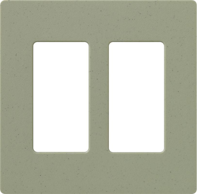 Lutron CW-2 Claro Two Gang Designer Wall Plate Greenbriar Wall
