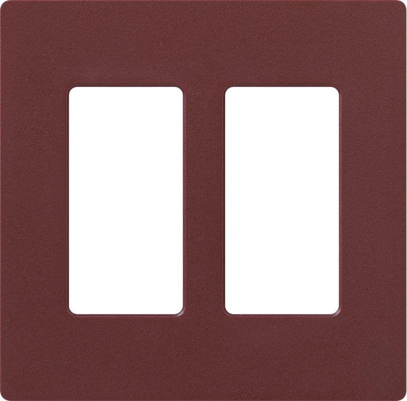 Lutron CW-2 Claro Two Gang Designer Wall Plate Merlot Wall Controls
