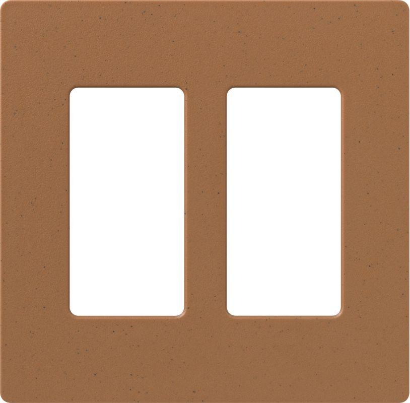 Lutron CW-2 Claro Two Gang Designer Wall Plate Terracotta Wall