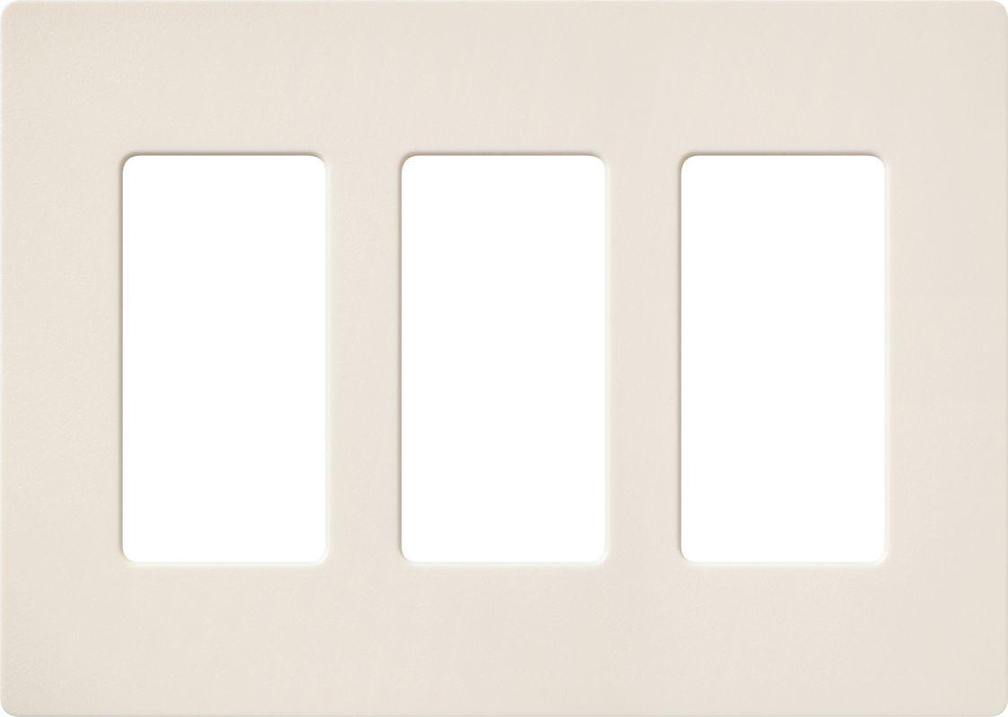 Lutron CW-3 Claro Three Gang Designer Wall Plate Eggshell Wall