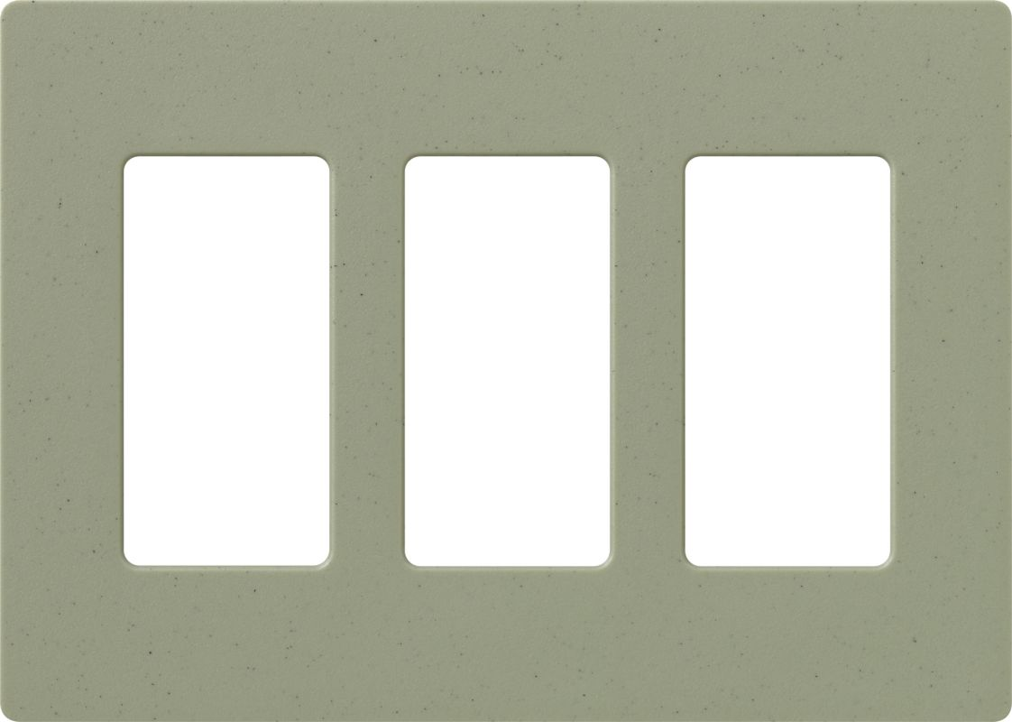 Lutron CW-3 Claro Three Gang Designer Wall Plate Greenbriar Wall