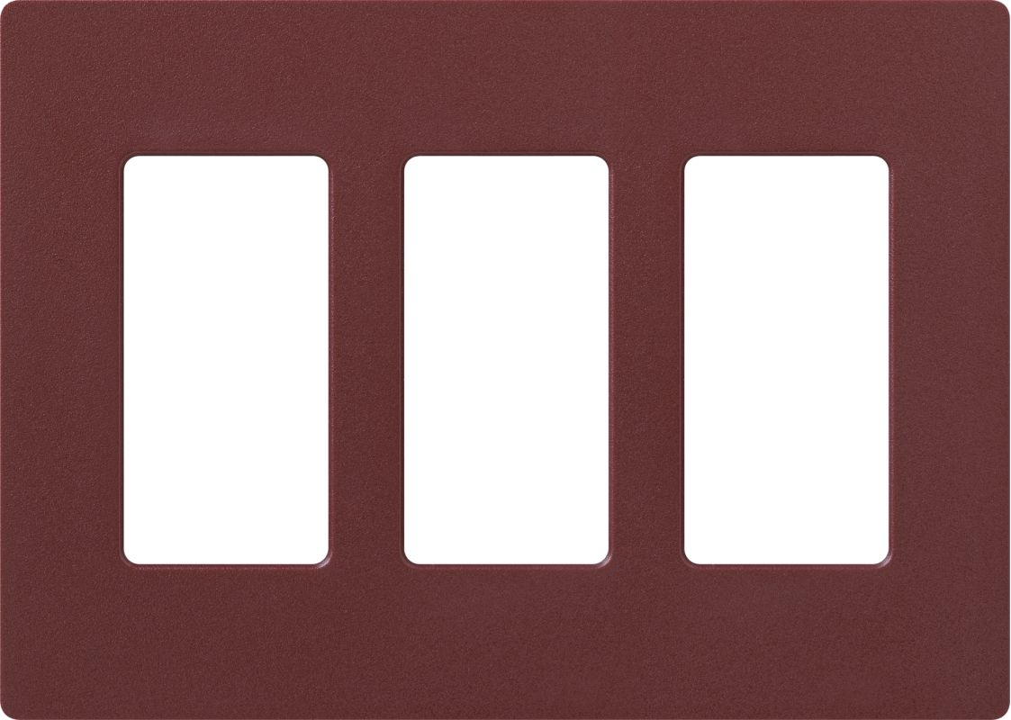 Lutron CW-3 Claro Three Gang Designer Wall Plate Merlot Wall Controls