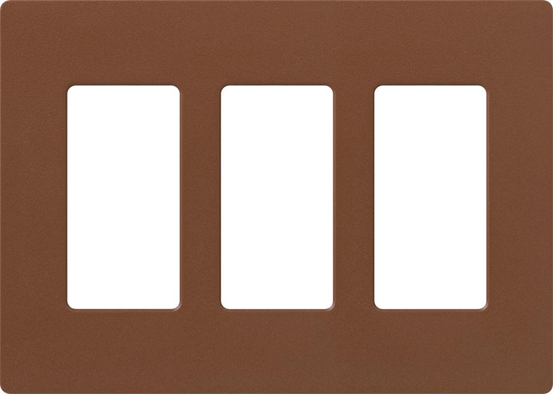 Lutron CW-3 Claro Three Gang Designer Wall Plate Sienna Wall Controls