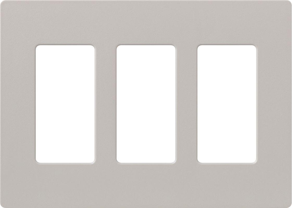 Lutron CW-3 Claro Three Gang Designer Wall Plate Taupe Wall Controls