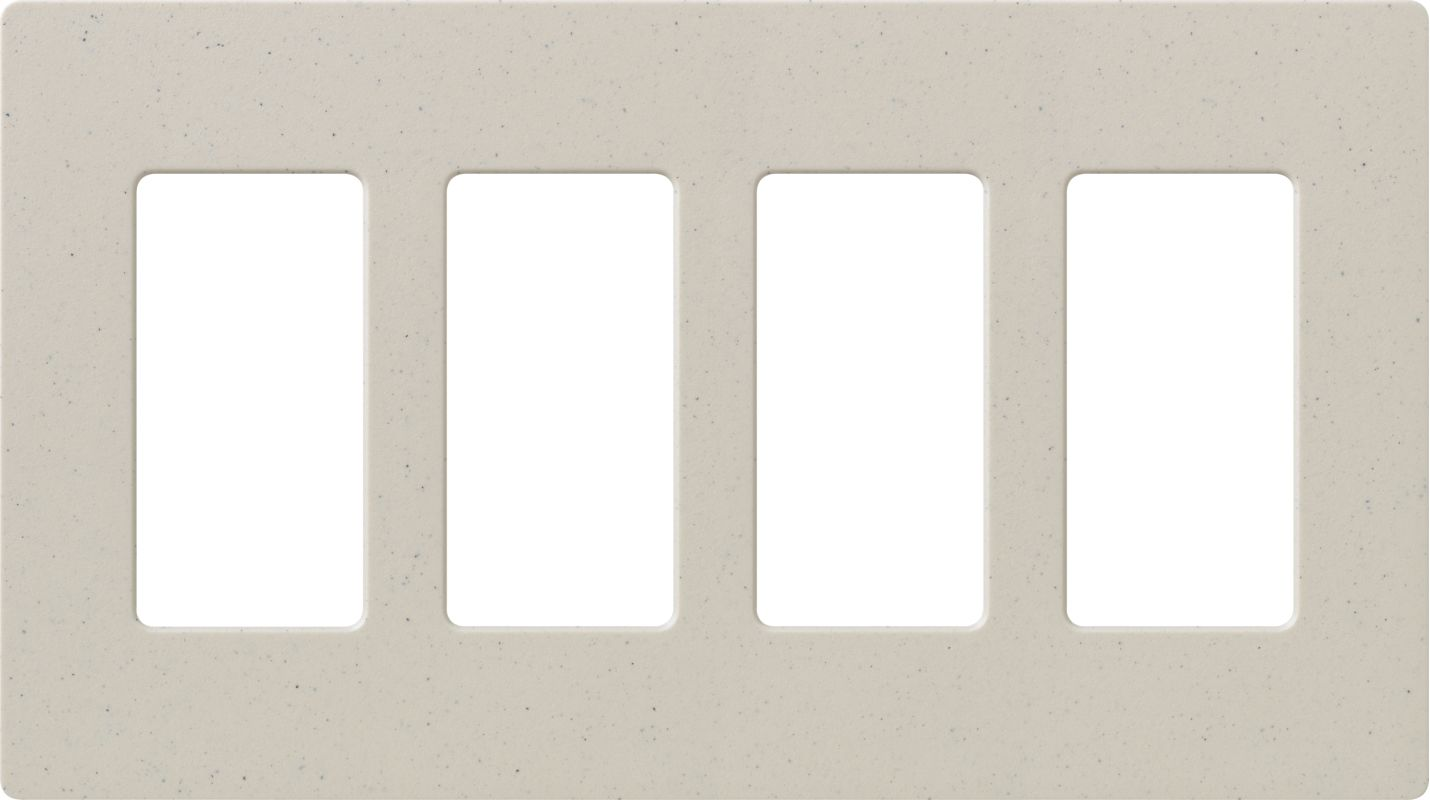 Lutron CW-4 Claro Four Gang Designer Wall Plate Limestone Wall Sale $19.89 ITEM: bci1855971 ID#:SC-4-LS UPC: 27557475600 :