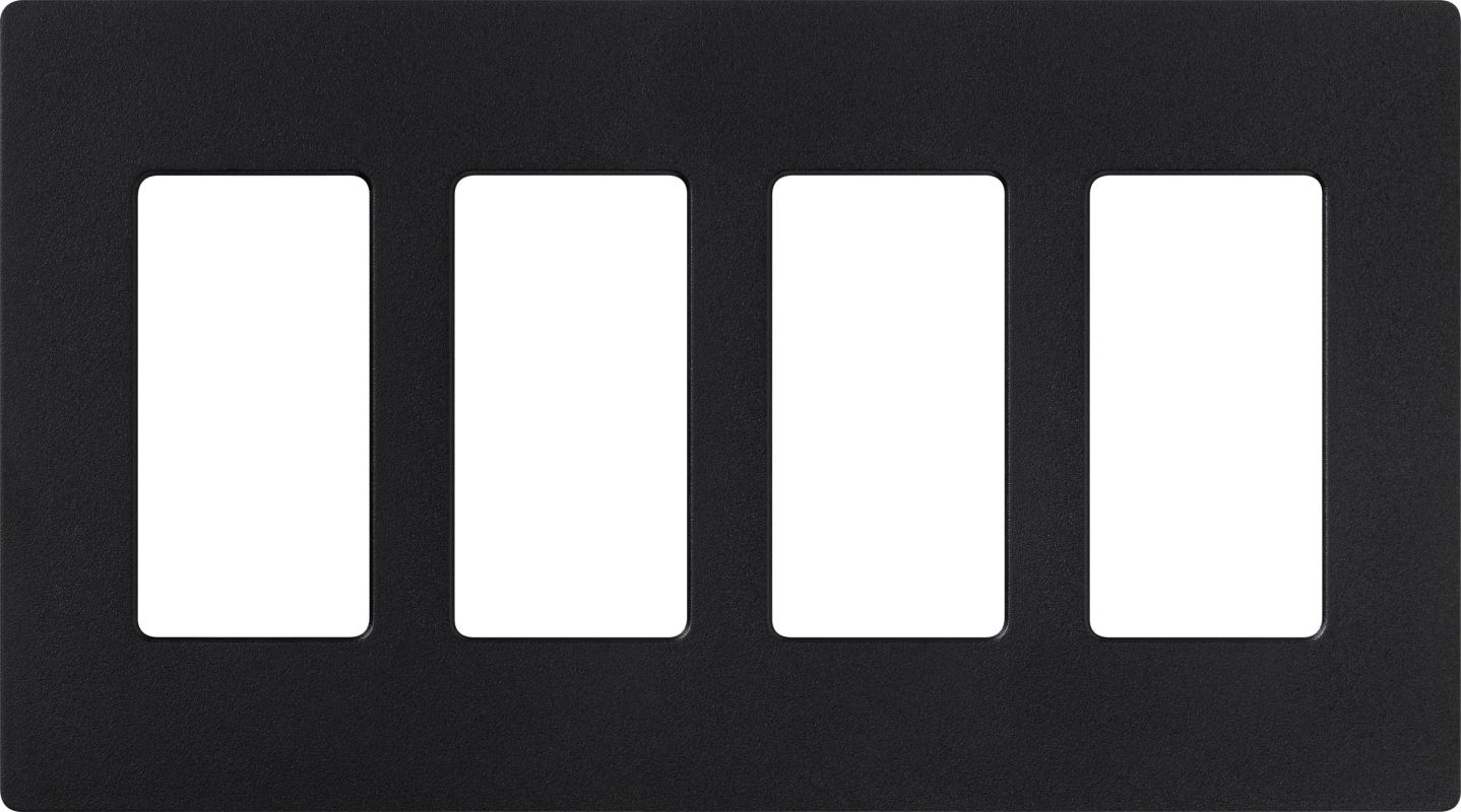 Lutron CW-4 Claro Four Gang Designer Wall Plate Midnight Wall Controls Sale $19.89 ITEM: bci1855972 ID#:SC-4-MN UPC: 27557475525 :