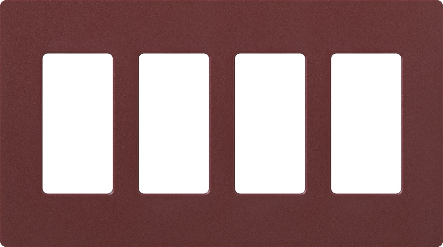 Lutron CW-4 Claro Four Gang Designer Wall Plate Merlot Wall Controls
