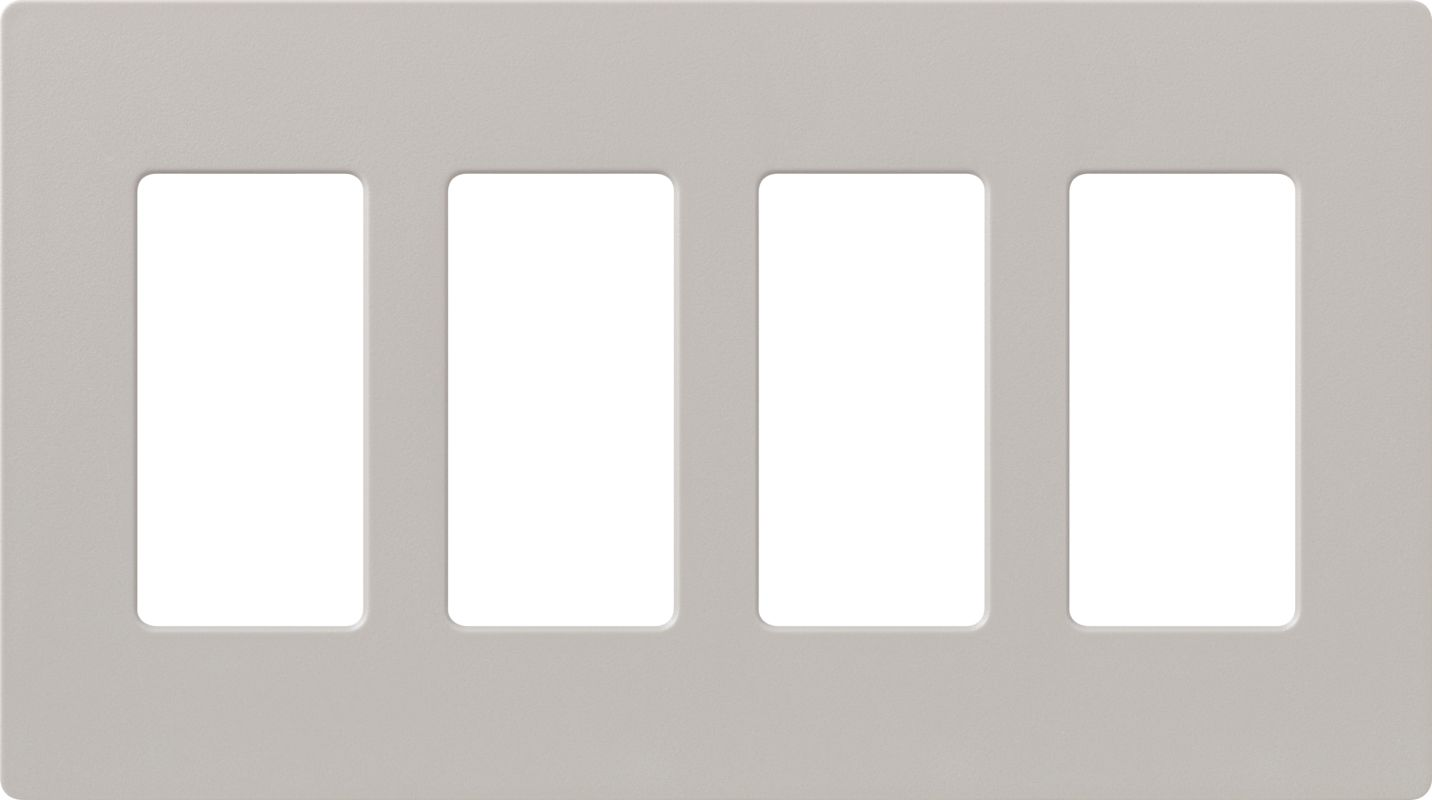 Lutron CW-4 Claro Four Gang Designer Wall Plate Taupe Wall Controls