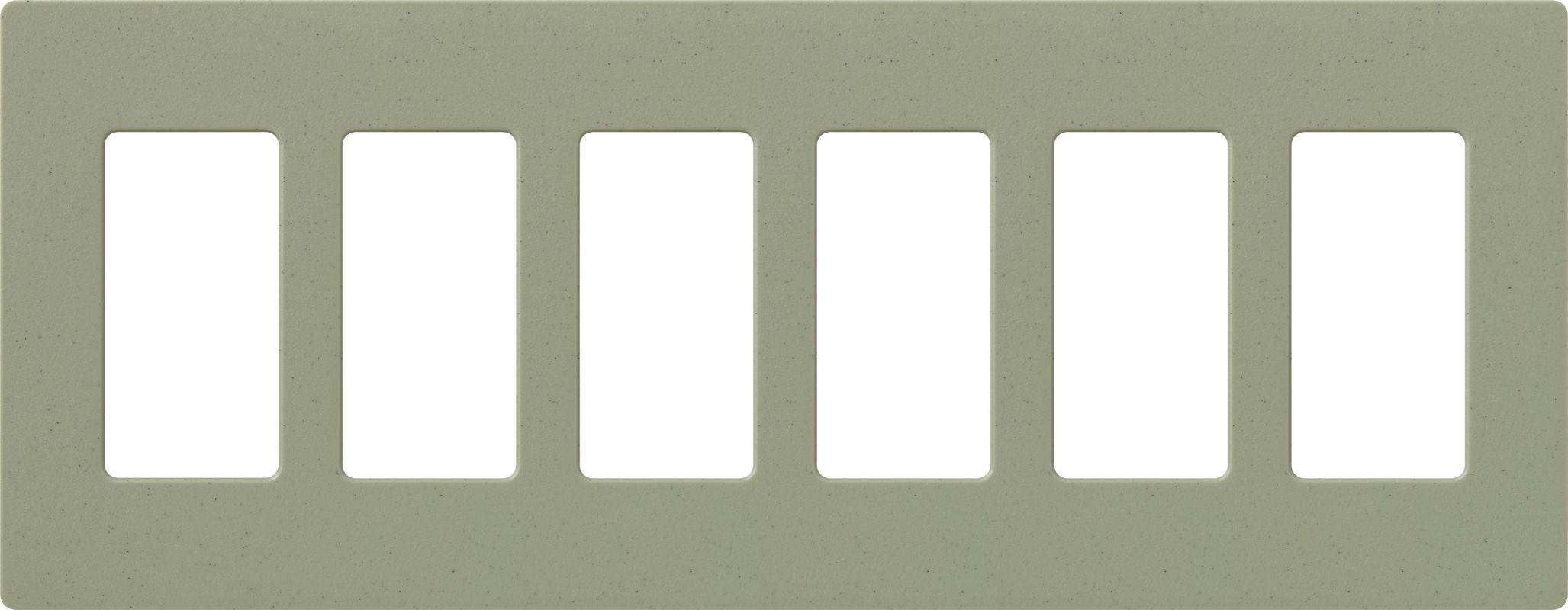 Lutron CW-6 Claro Six Gang Designer Wall Plate Greenbriar Wall Sale $59.75 ITEM: bci1856034 ID#:SC-6-GB UPC: 27557175845 :