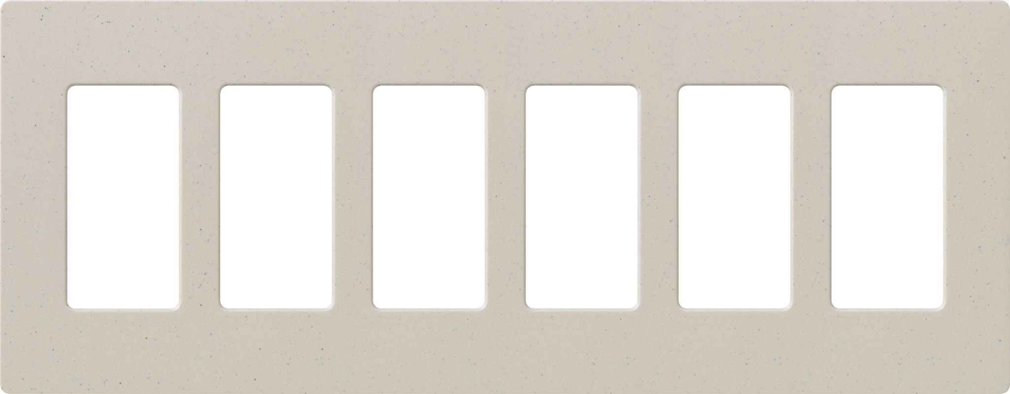 Lutron CW-6 Claro Six Gang Designer Wall Plate Limestone Wall Controls Sale $59.75 ITEM: bci1856037 ID#:SC-6-LS UPC: 27557494786 :