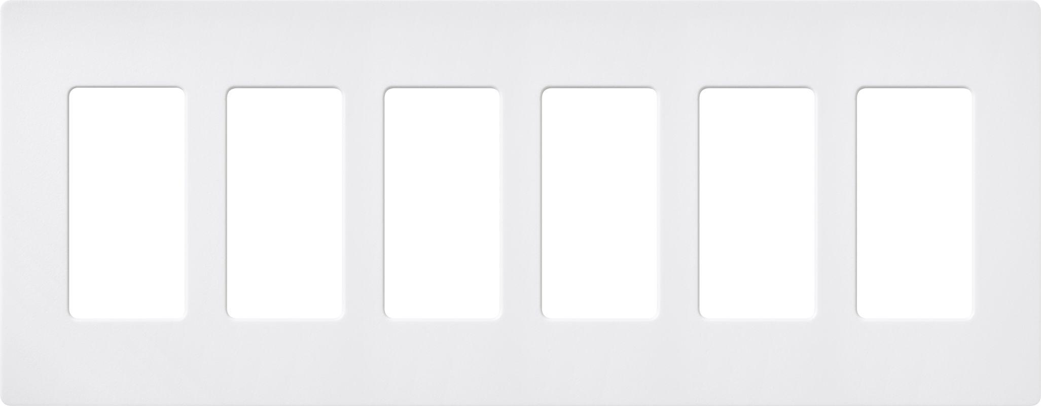 Lutron CW-6 Claro Six Gang Designer Wall Plate Snow Wall Controls Sale $59.75 ITEM: bci1856046 ID#:SC-6-SW UPC: 27557494854 :
