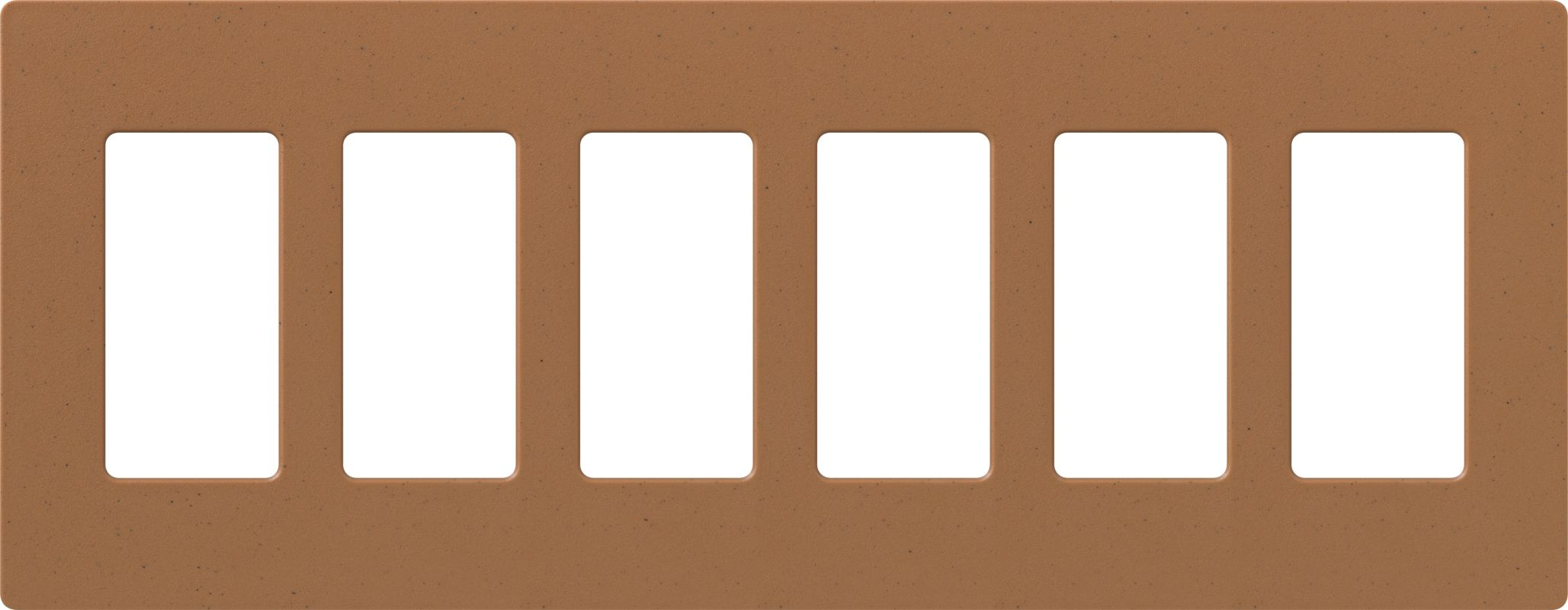 Lutron CW-6 Claro Six Gang Designer Wall Plate Terracotta Wall
