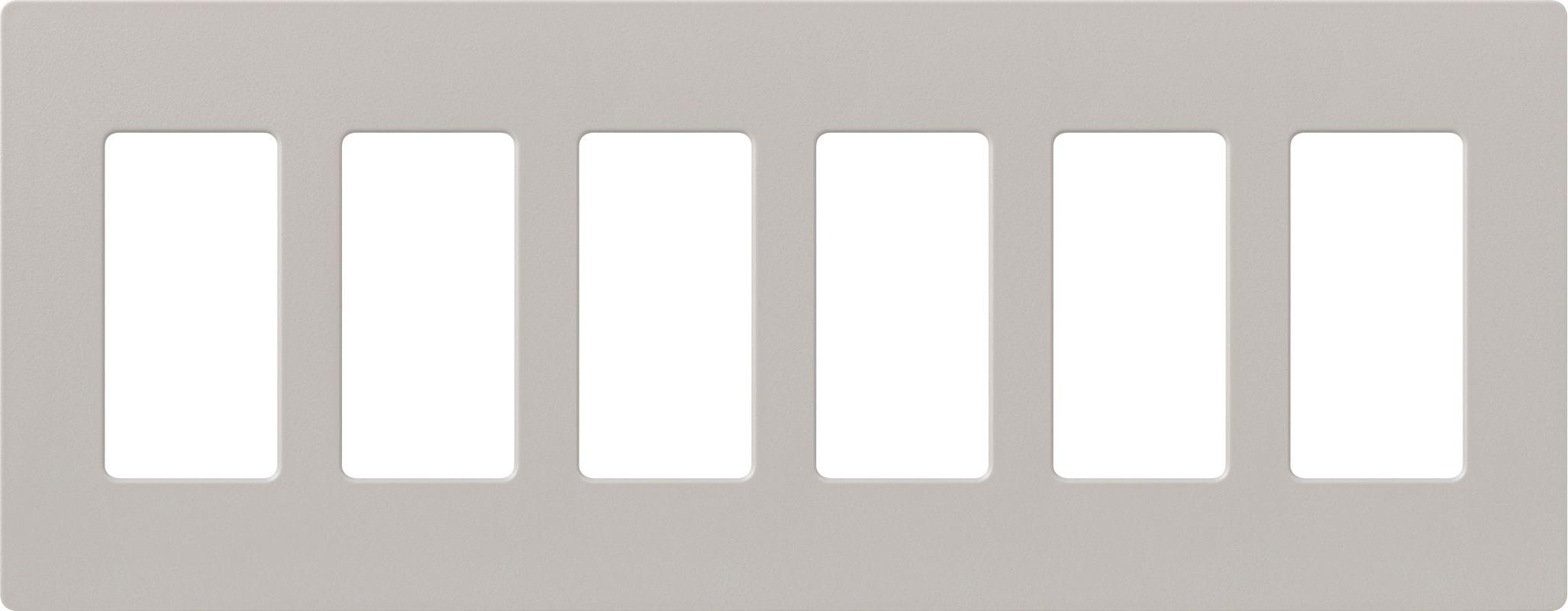 Lutron CW-6 Claro Six Gang Designer Wall Plate Taupe Wall Controls