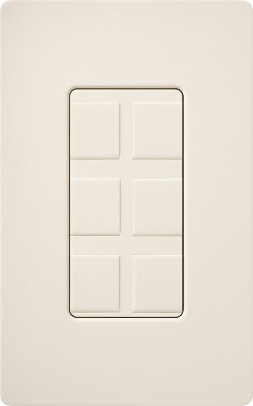 Lutron CA-6PF Claro Designer Six Port Blank Frame Eggshell Indoor