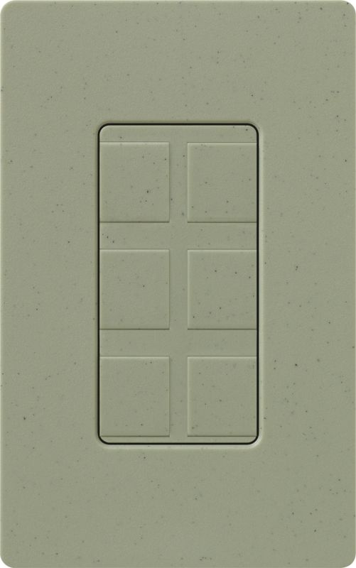 Lutron CA-6PF Claro Designer Six Port Blank Frame Greenbriar Indoor