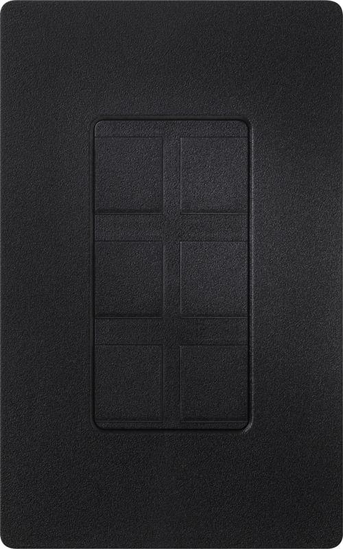 Lutron CA-6PF Claro Designer Six Port Blank Frame Midnight Indoor