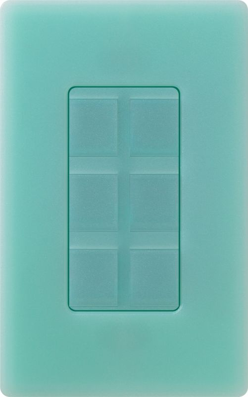 Lutron CA-6PF Claro Designer Six Port Blank Frame Sea Glass Indoor