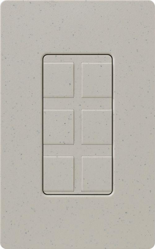 Lutron CA-6PF Claro Designer Six Port Blank Frame Stone Indoor