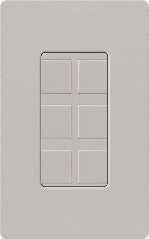 Lutron CA-6PF Claro Designer Six Port Blank Frame Taupe Indoor