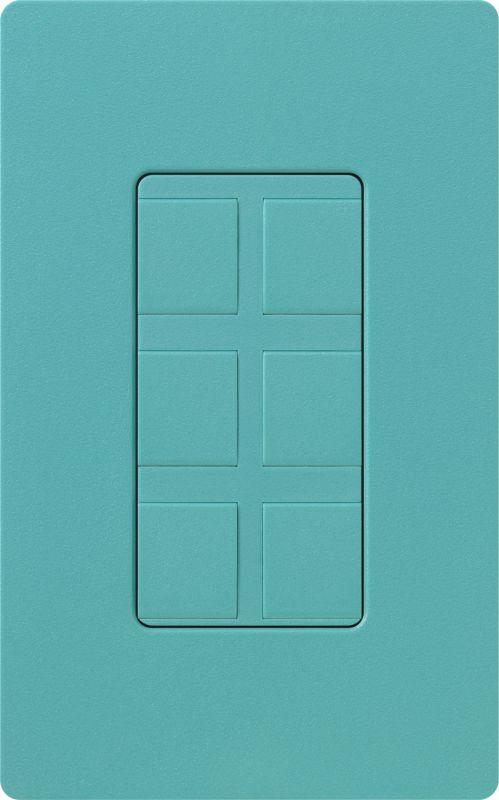 Lutron CA-6PF Claro Designer Six Port Blank Frame Turquoise Indoor