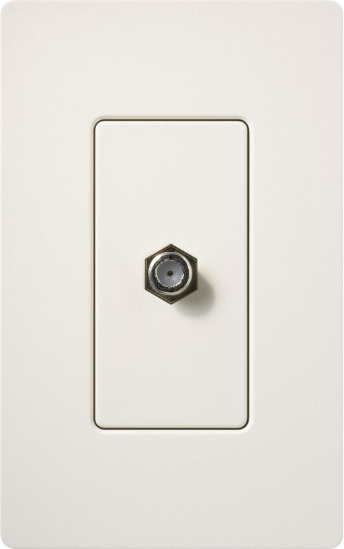 Lutron CA-CJH Claro Single Cable Designer Wall Jack (Wall Plate Sold Sale $8.87 ITEM: bci1855794 ID#:SC-CJ-BI UPC: 27557494861 :