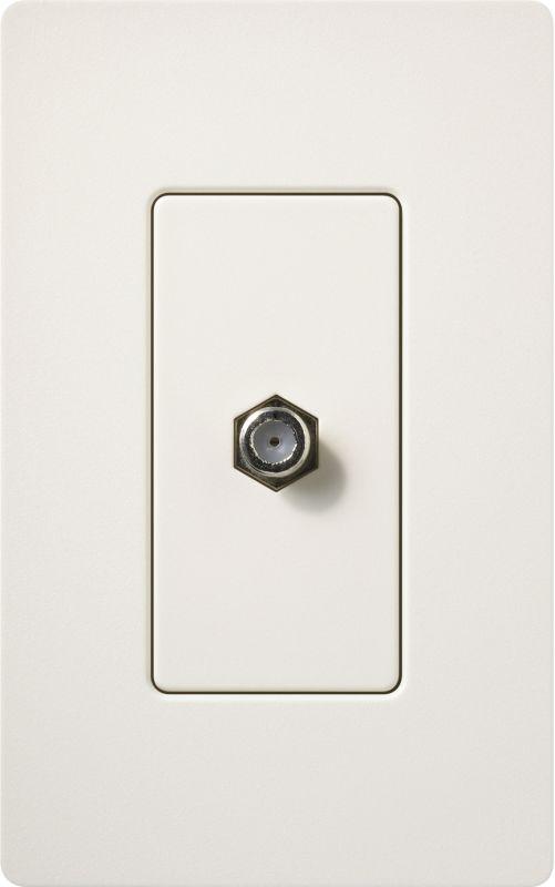 Lutron CA-CJH Claro Single Cable Designer Wall Jack (Wall Plate Sold Sale $8.87 ITEM: bci1855794 ID#:SC-CJ-BI UPC: 27557494861 :