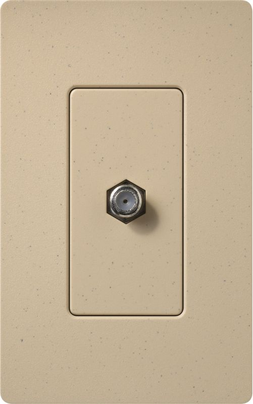 Lutron CA-CJH Claro Single Cable Designer Wall Jack (Wall Plate Sold Sale $8.87 ITEM: bci1855795 ID#:SC-CJ-DS UPC: 27557494885 :