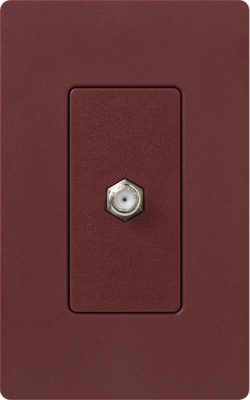 Lutron CA-CJH Claro Single Cable Designer Wall Jack (Wall Plate Sold Sale $8.87 ITEM: bci1855802 ID#:SC-CJ-MR UPC: 27557175333 :