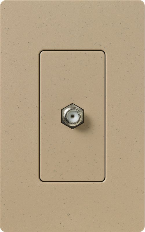 Lutron CA-CJH Claro Single Cable Designer Wall Jack (Wall Plate Sold Sale $8.87 ITEM: bci1855803 ID#:SC-CJ-MS UPC: 27557264624 :