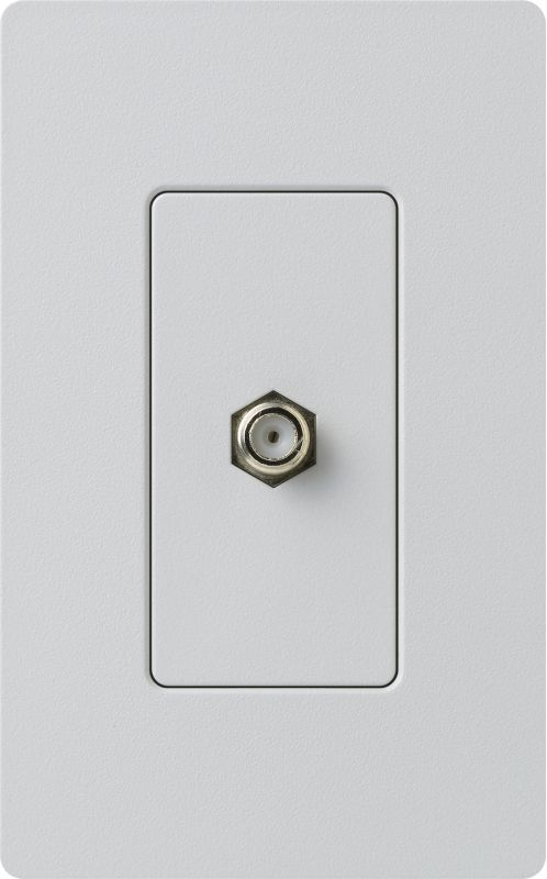Lutron CA-CJH Claro Single Cable Designer Wall Jack (Wall Plate Sold Sale $8.87 ITEM: bci1855804 ID#:SC-CJ-PD UPC: 27557266277 :