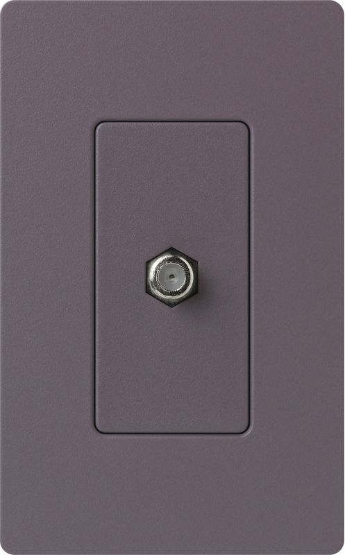 Lutron CA-CJH Claro Single Cable Designer Wall Jack (Wall Plate Sold Sale $8.87 ITEM: bci1855805 ID#:SC-CJ-PL UPC: 27557266826 :