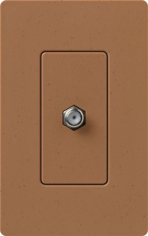 Lutron CA-CJH Claro Single Cable Designer Wall Jack (Wall Plate Sold Sale $8.87 ITEM: bci1855810 ID#:SC-CJ-TC UPC: 27557494991 :