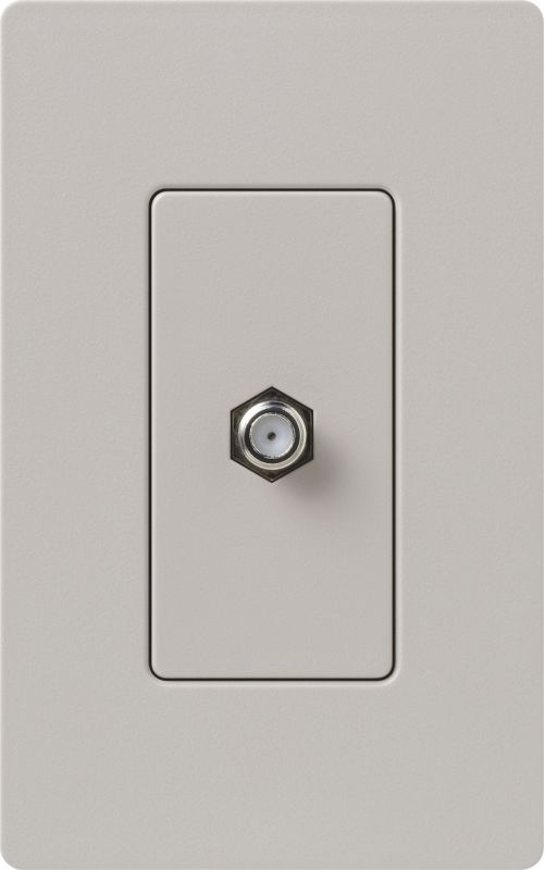 Lutron CA-CJH Claro Single Cable Designer Wall Jack (Wall Plate Sold