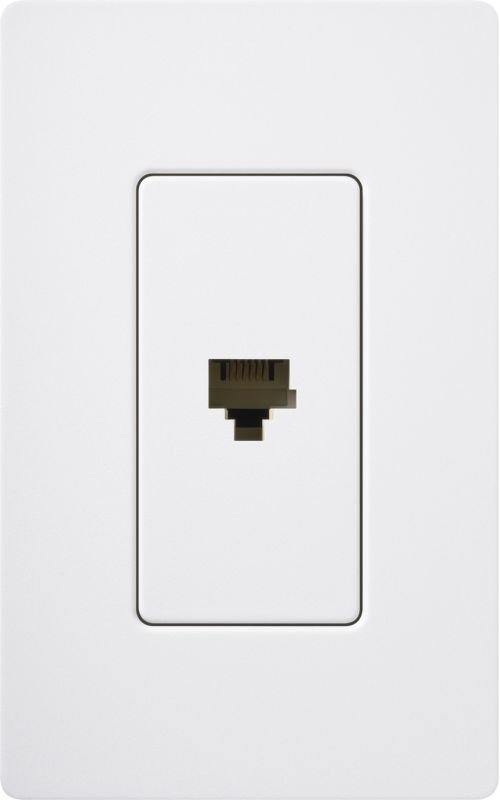 Lutron CA-PJH Claro 6 Conductor Designer Telephone Jack for RJ11 Cable Sale $8.87 ITEM: bci1855830 ID#:SC-PJ-SW UPC: 27557495196 :