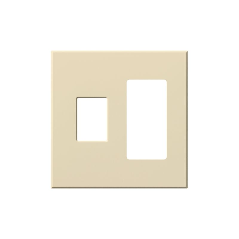 Lutron VWP-2CR Architectural Two Gang wall plate for One Dimmer and