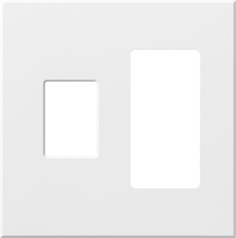 Lutron VWP-2CR Architectural Two Gang wall plate for One Dimmer and Sale $19.07 ITEM: bci1857263 ID#:VWP-2CR-WH UPC: 27557689663 :