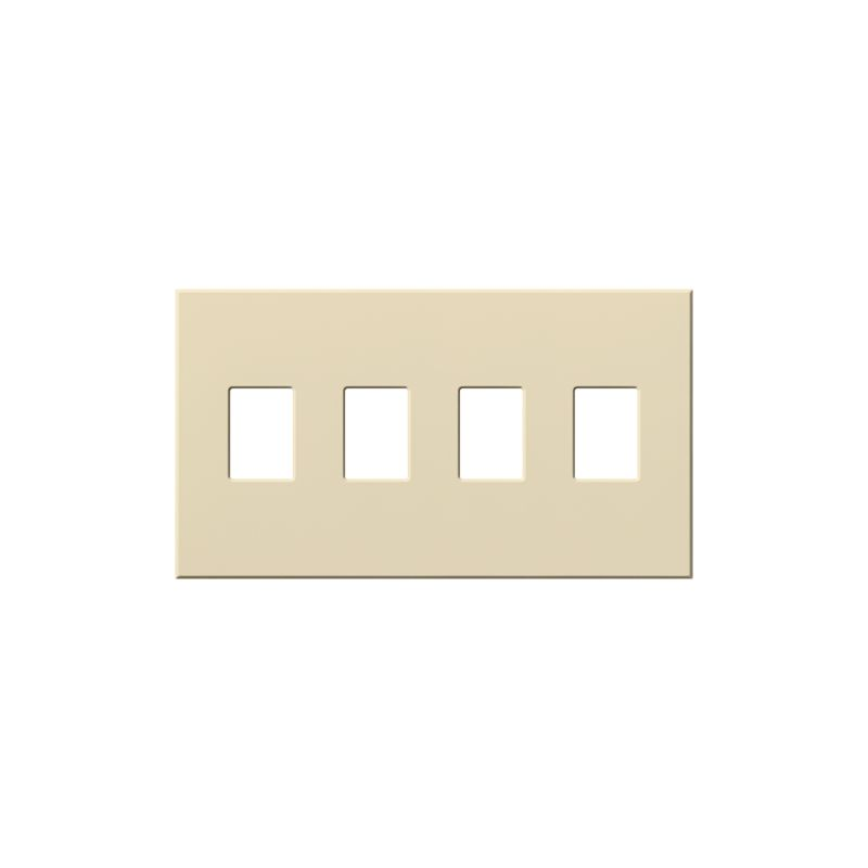 Lutron VWP-4 Architectural Four Gang wall plate for Four Dimmers or